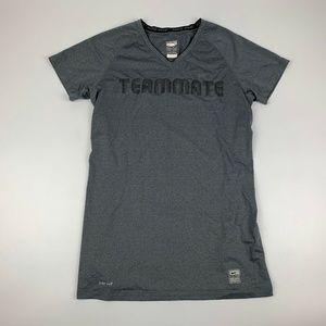 """Nike Pro Dri-Fit """"Teammate"""" shirt Womens M (8-10)"""